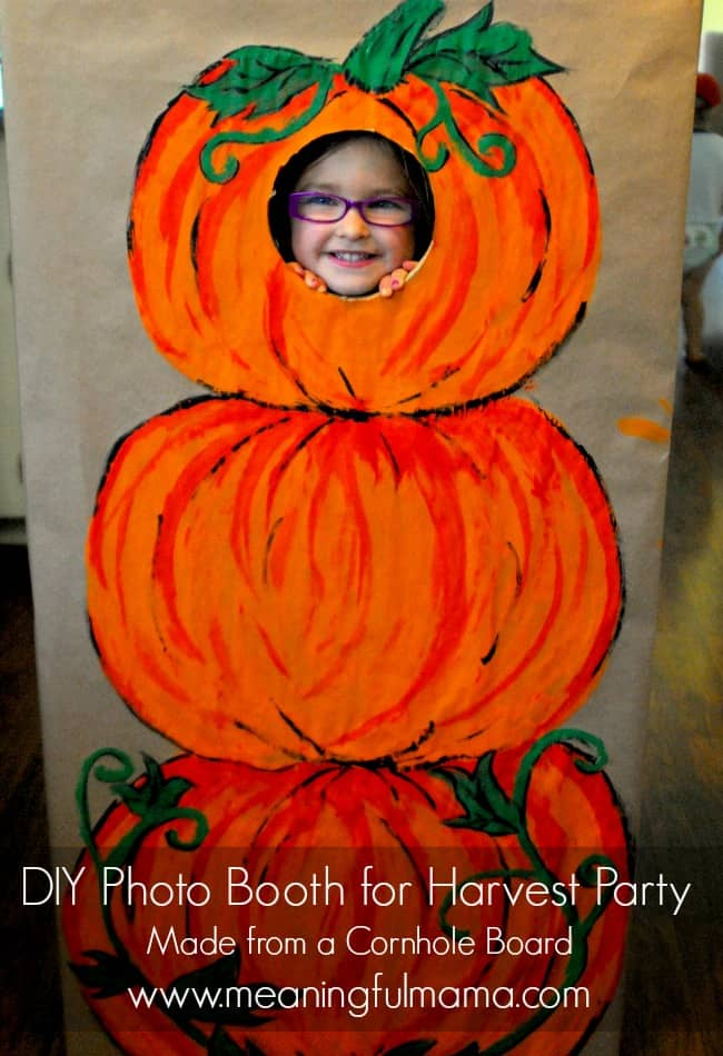 diy photo booth harvest party idea