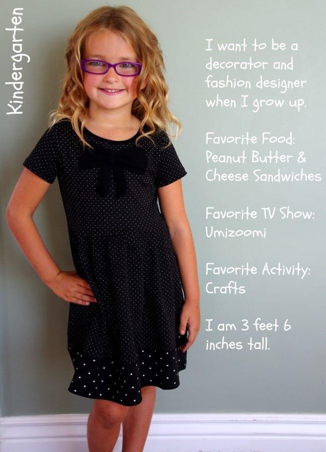 first day of school picture ideas kindergarten kenzie