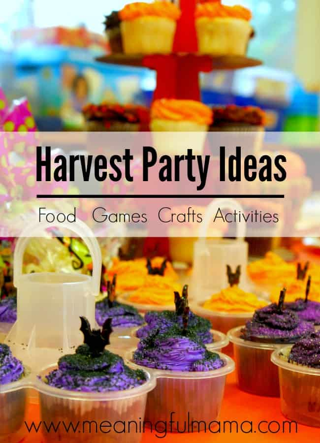 harvest party ideas activities games crafts food