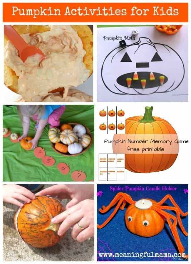 pumpkin learning activities kids