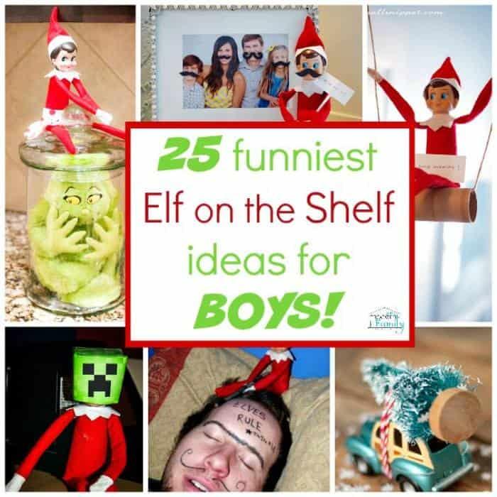 boys elf on the shelf ideas