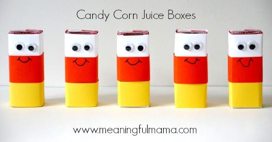 candy corn halloween juice boxes