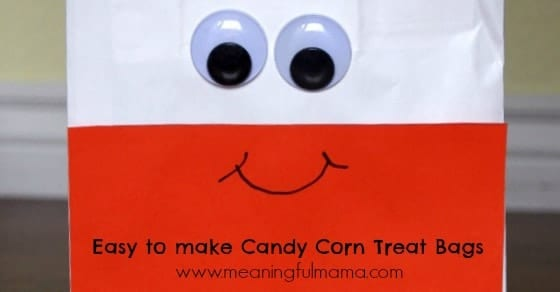 candy corn treat bag harvest party idea