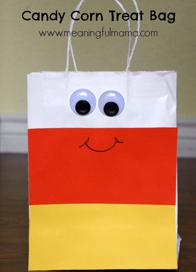 candy corn treat bag