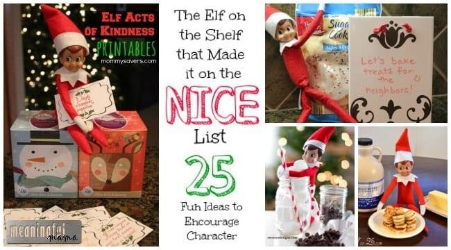 elf on the shelf ideas nice kindness alternative