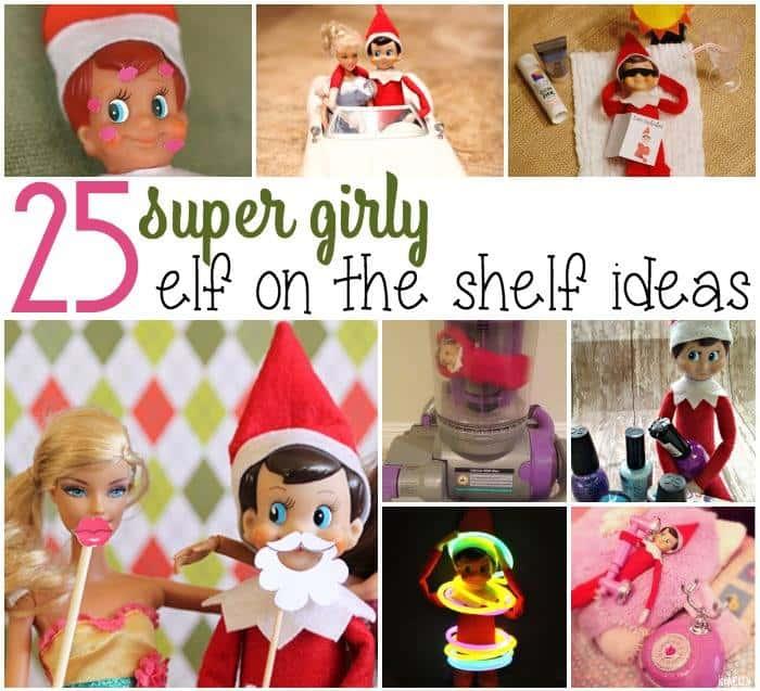 girl elf on the shelf ideas