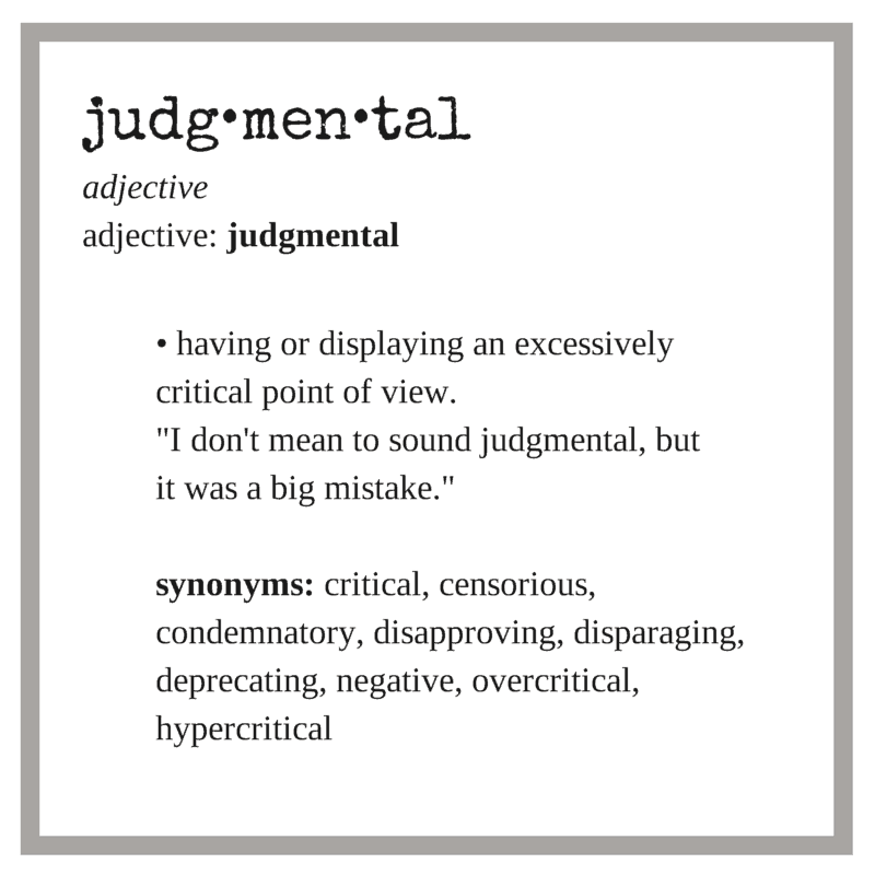judgmental definition