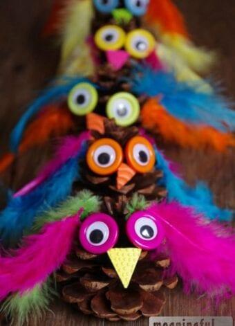 Owl Pinecone Craft