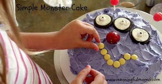 simple monster cake design