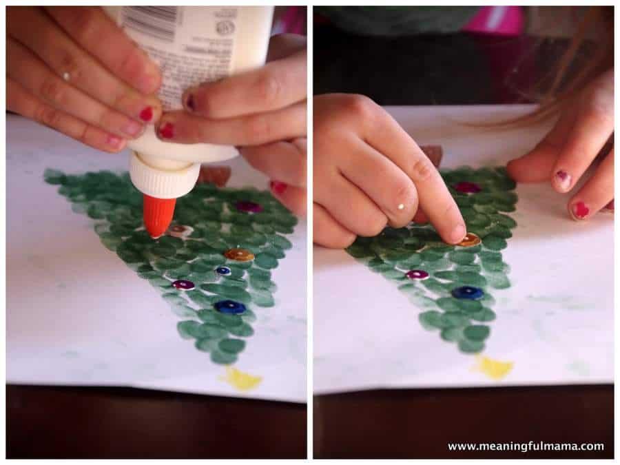 1-fingerprint Christmas tree craft Nov 25, 2014, 10-45 AM