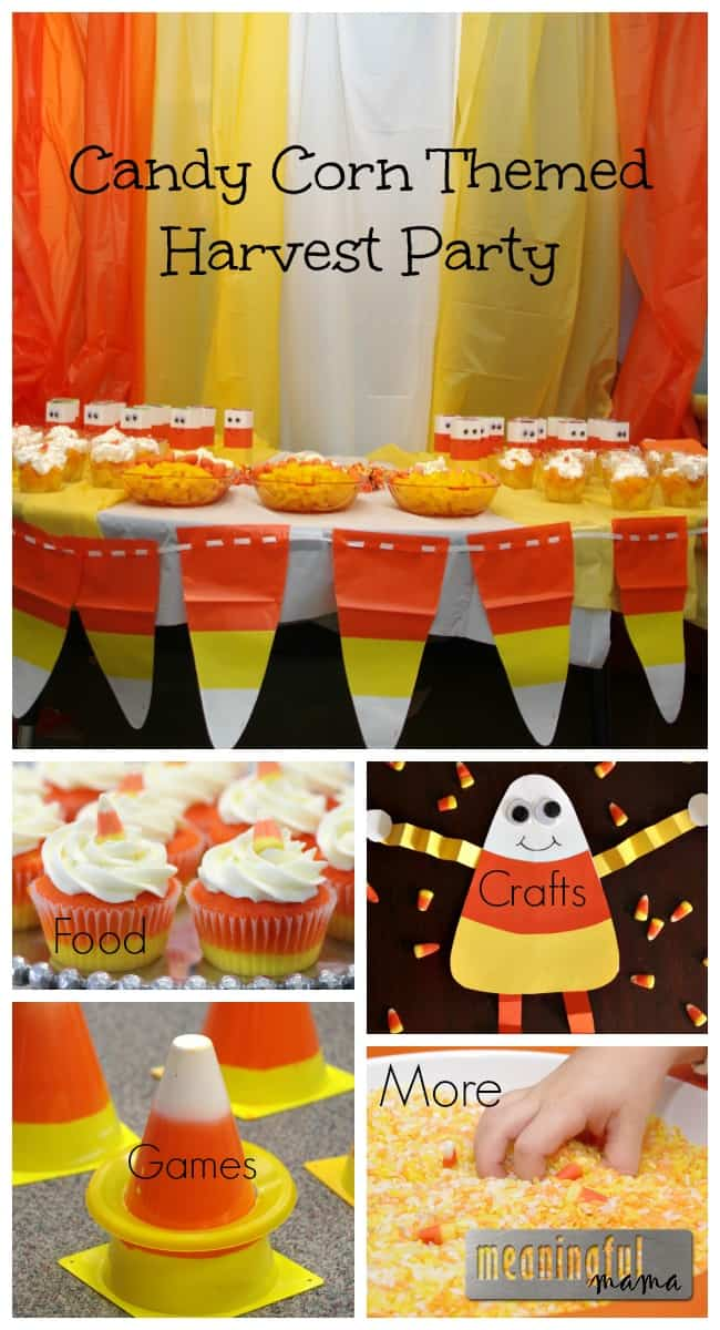sc 1 st  Meaningful Mama & Candy Corn Harvest Party
