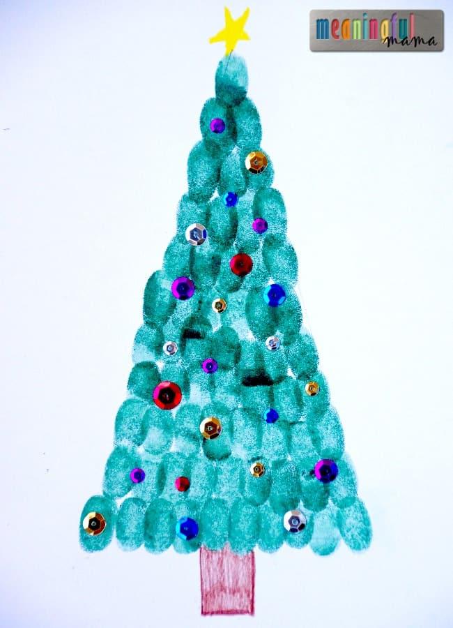 Christmas Finger Print Craft