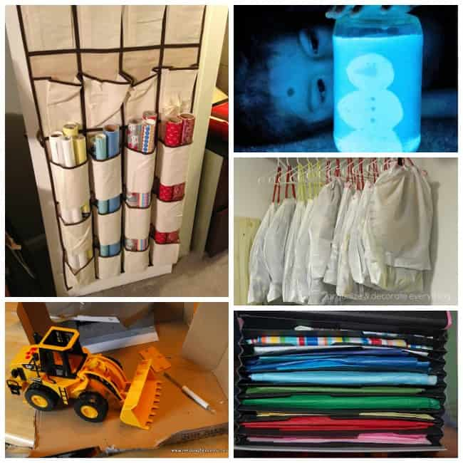 Christmas hacks ideas storage  sc 1 st  Meaningful Mama & 25+ Clever Christmas Hacks to Make Life Easier