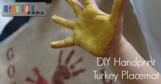 DIY Handprint Turkey Placemat