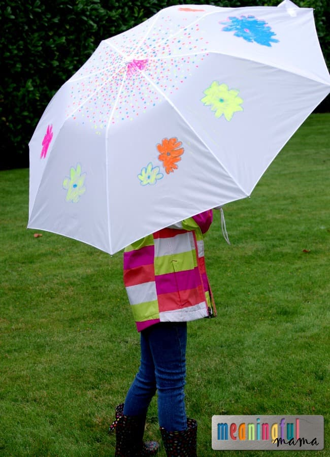decorate your own umbrella fall craft kids