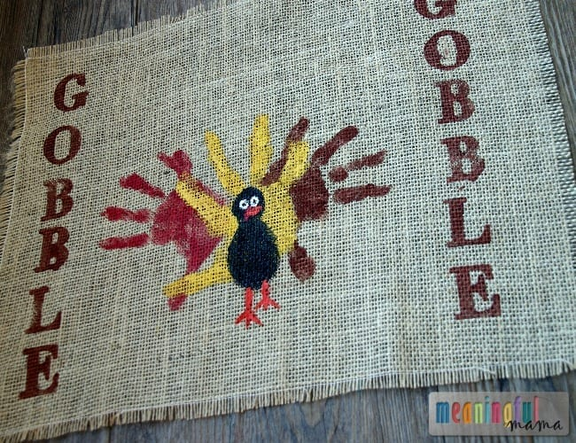 Kids Thanksgiving Placemats Turkey