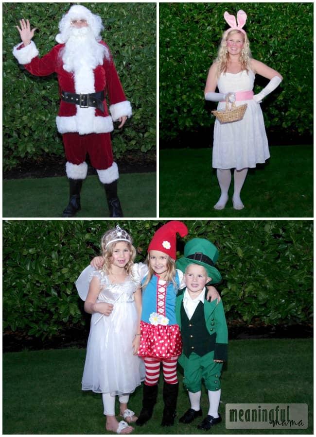 family costume idea santa easter bunny characters