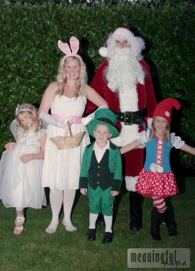 family costume idea santa easter bunny tooth fairy