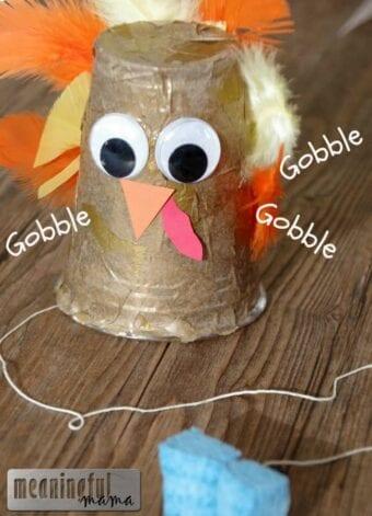 Gobbling Turkey Thanksgiving Craft
