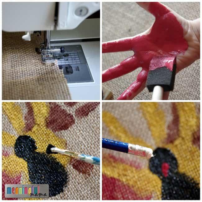 turkey handprint placemat thanksgiving diy