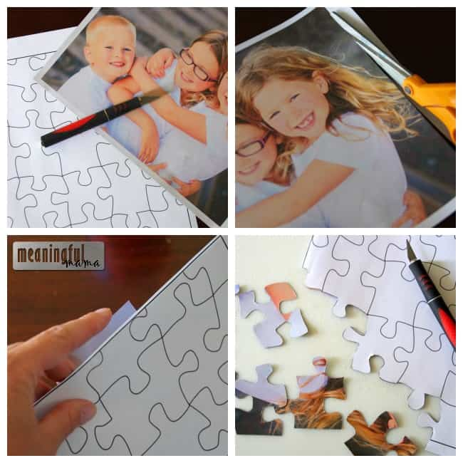 diy photo magnet puzzle tutorial