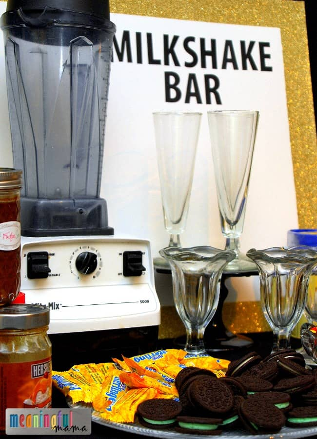 Milkshake Bar for our New Year's Eve Party