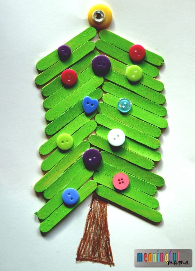 If You Are Looking For Other Christmas Tree Craft Ideas I Think Might Enjoy Our Fingerprint Trees And My Popsicle Stick