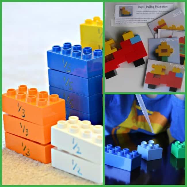 preschool learning activities lego duple