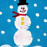 Sponge Stamped Snowman Craft