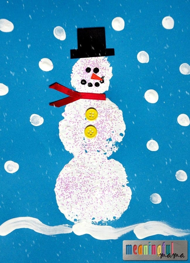 Snowman Craft Ideas For Kids Part - 15: Meaningful Mama