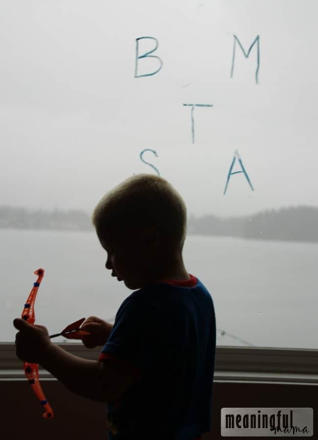 target letter learning preschool