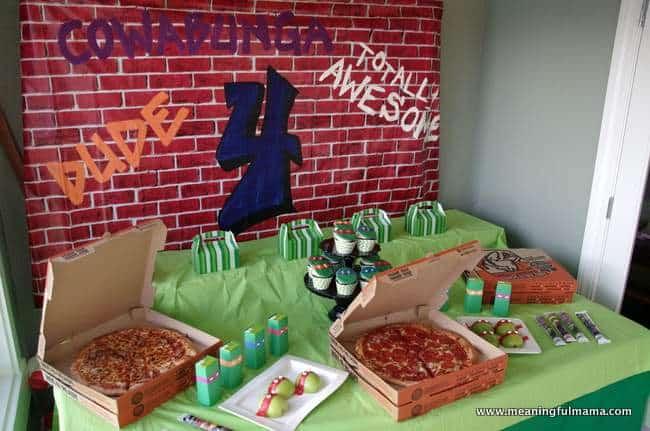 1 Teenage Mutant Ninja Party Food And Table Ideas Nov 23 2014 2