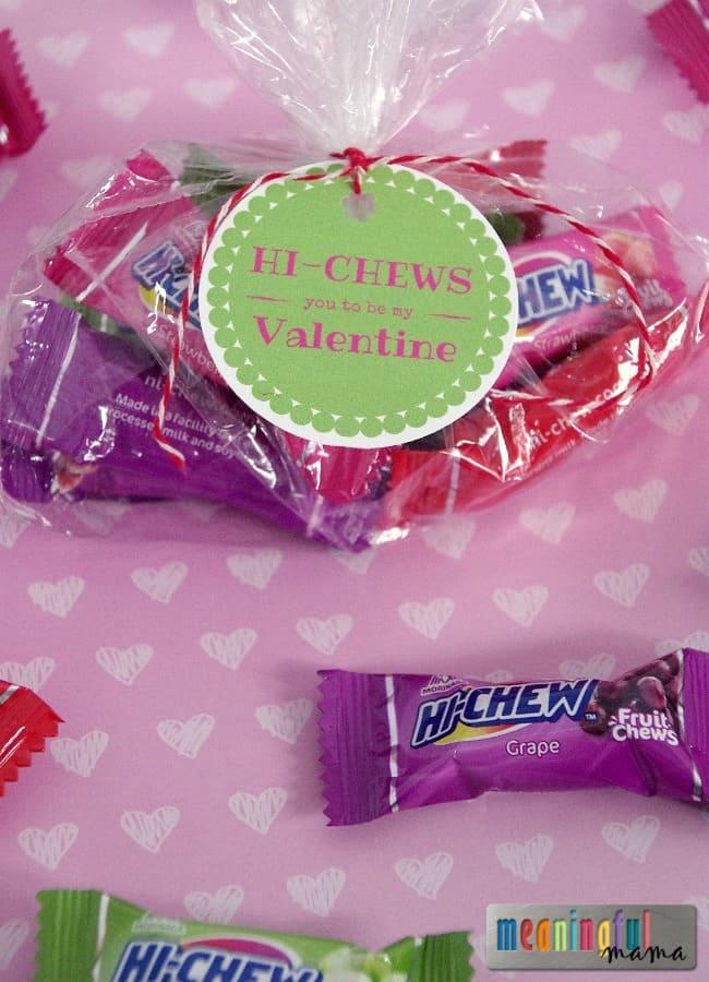 Hi Chew Valentine Printable for Kids