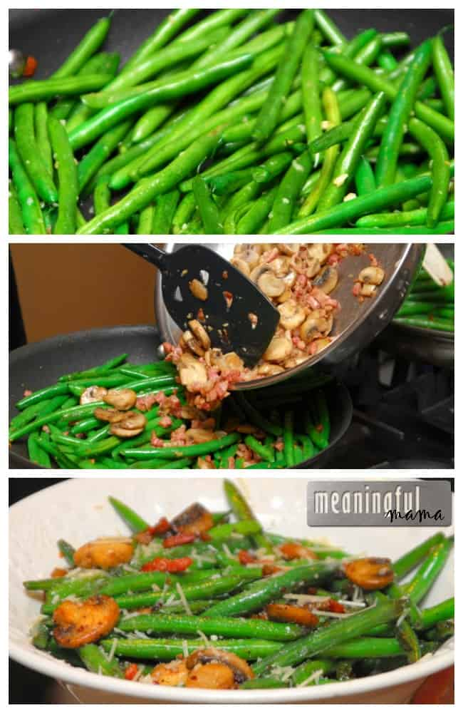 green bean recipe pancetta mushrooms