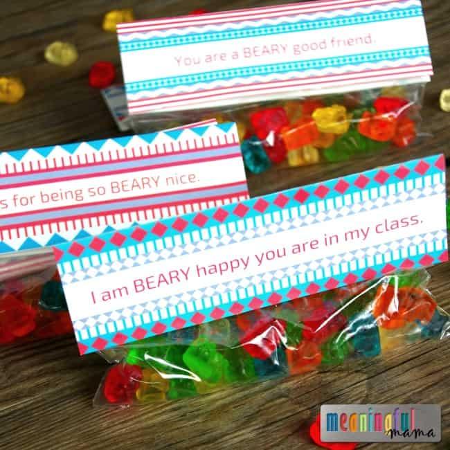 gummy bear free valentine printable kids