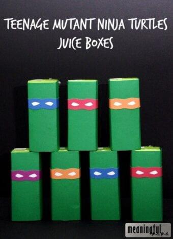 Teenage Mutant Ninja Turtle Juice Boxes