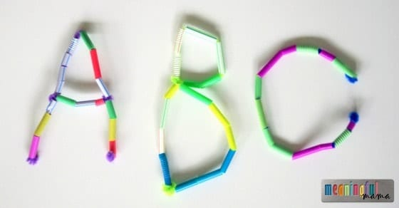 Letters and Names out of Pipe Cleaners and Straws Feb 18, 2015, 12-006