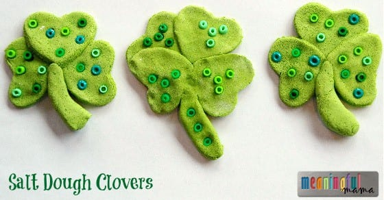 St. Patrick's Day Salt Dough Clover Craft