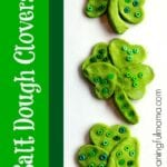 St. Patrick's Day Salt Dough Clover Craft