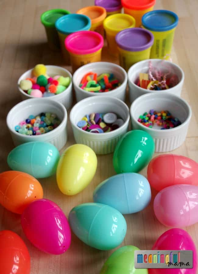 Easter Activity for Toddlers - Color Sorting with Plastic Eggs