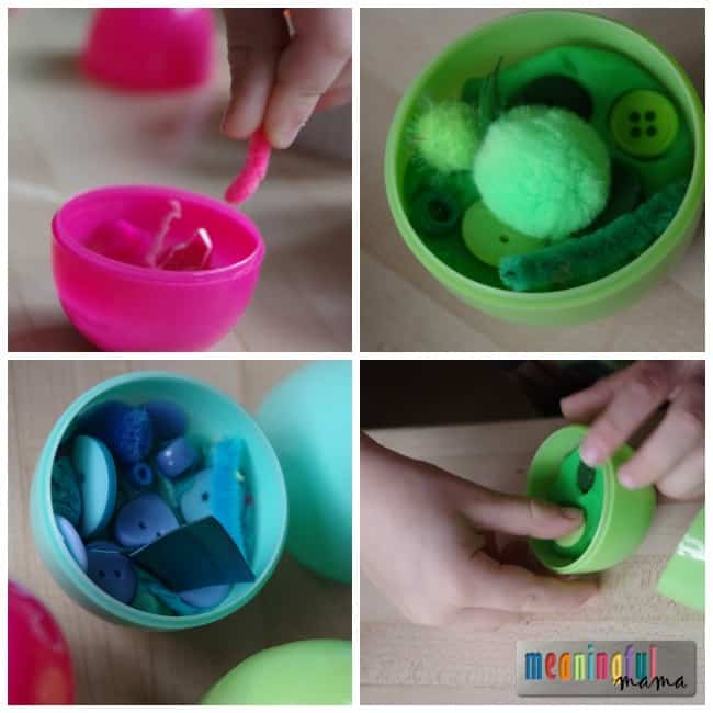 Easter Color Sorting for Kids