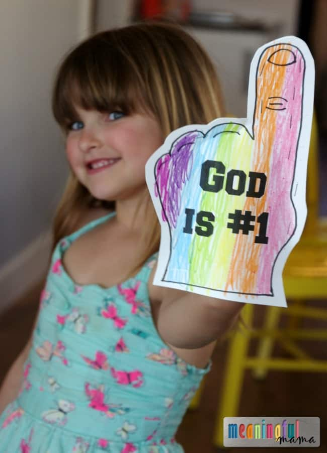 God is the Only God Craft for Kids - Free Printable Included