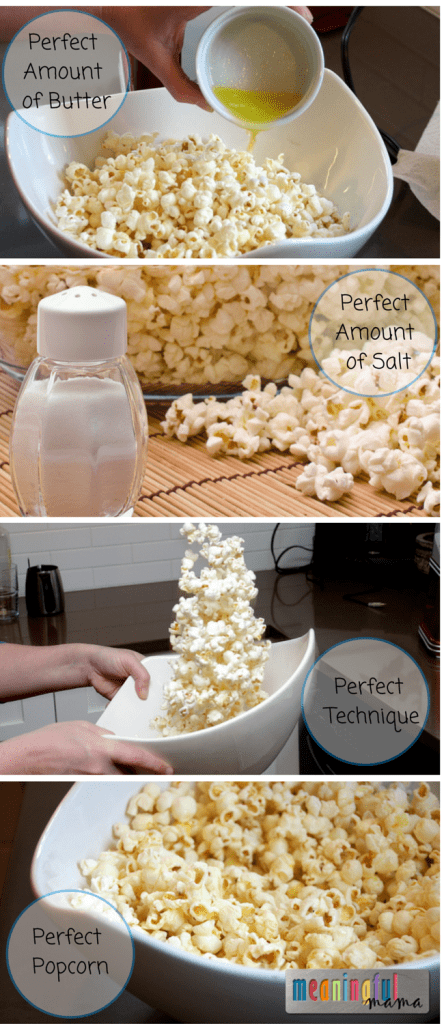 How to Make Perfect Popcorn - Best Butter to Salt to Popcorn Ratio