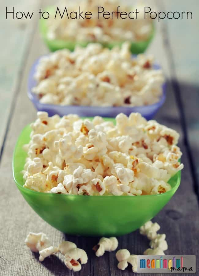 How to Make Perfect Popcorn - The Perfect Popcorn Ratio
