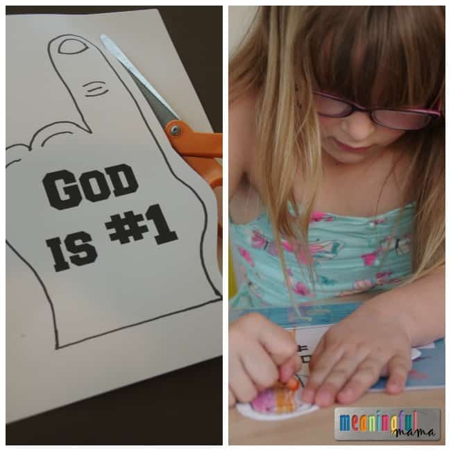 There is Only One God Craft for Kids - Free Printable Included