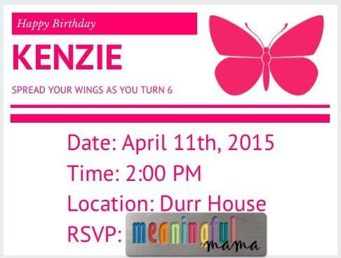 Butterfly Invitations DIY
