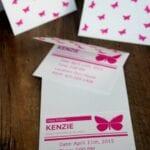 DIY Butterfly Invitations