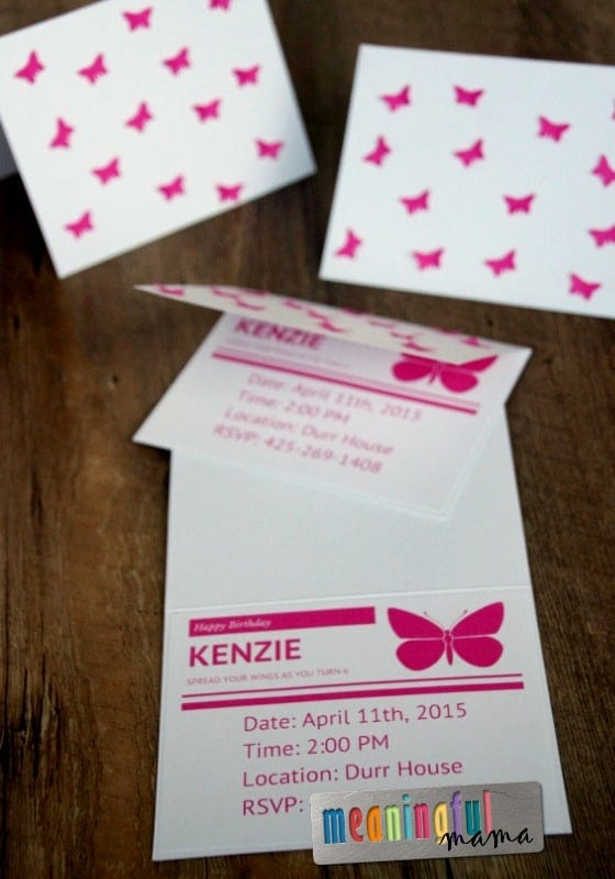 DIY Butterfly Birthday Invitations - Tutorial