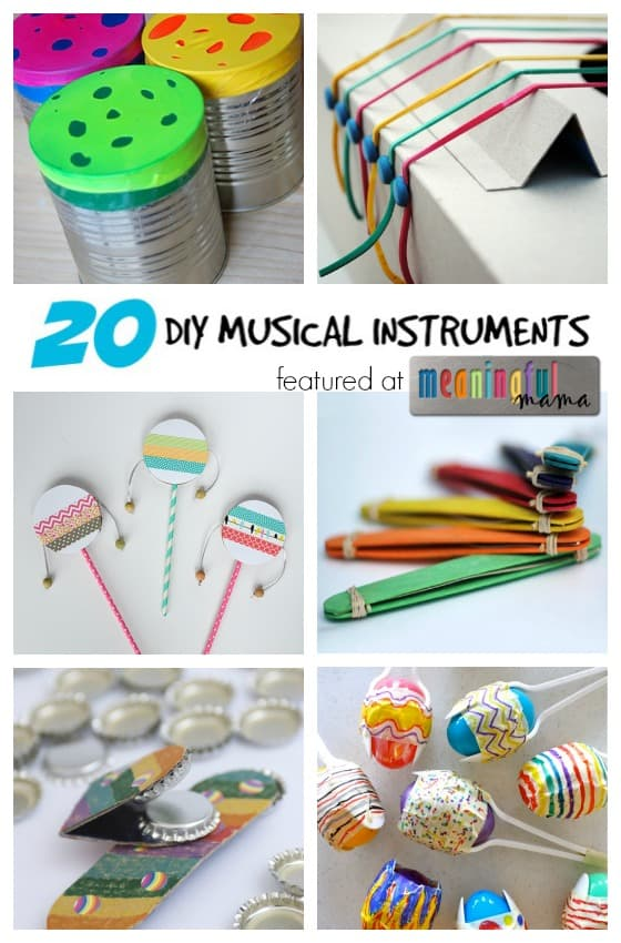 Delightful Craft Ideas For Kids-musical Instruments Part - 2: Meaningful Mama