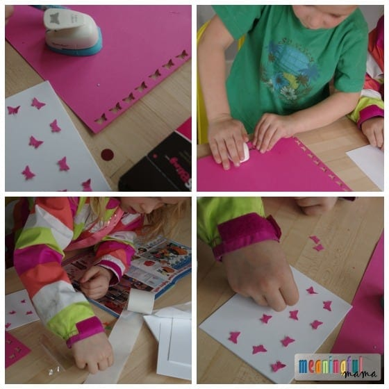 DIY Pink Butterfly Birthday Invitations